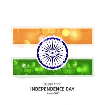 빛나는 인도 독립 기념일 플래그