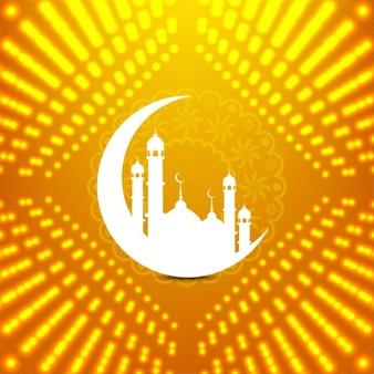 輝くイスラム背景デザイン