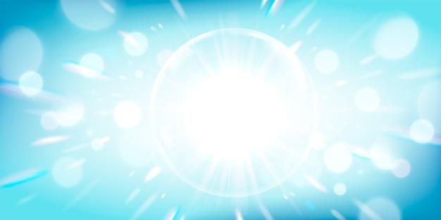 Glowing light blue background