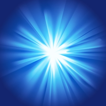 Glowing light blue burst