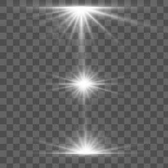 빛나는 빛 버스트 폭발 투명.