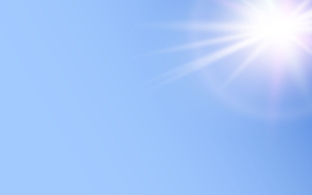 青い背景に輝く光の効果