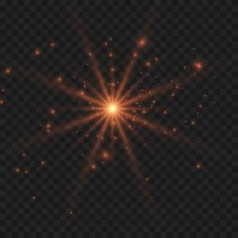 Светящийся световой эффект на прозрачном фоне.
