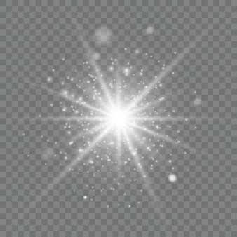 透明な光の効果。