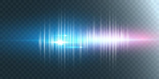 透明に分離された多くのキラキラ粒子による輝く光の効果