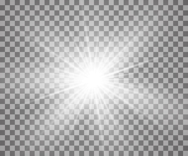 Glowing light effect with