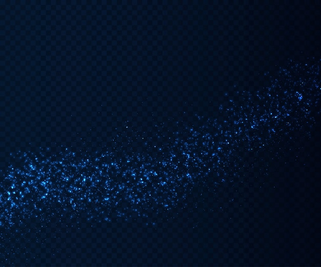 Glowing  light effects, blue particles flow