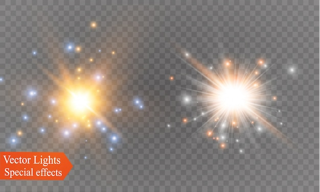 Glowing light explodes. sparkling magical dust particles. bright star.  shining sun, bright flash.