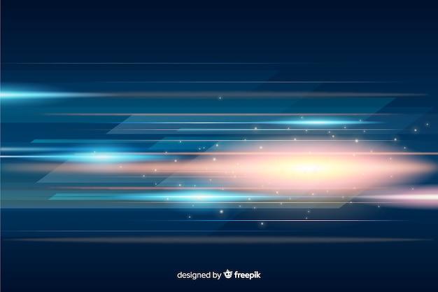 Priorità bassa futuristica di movimento della luce incandescente