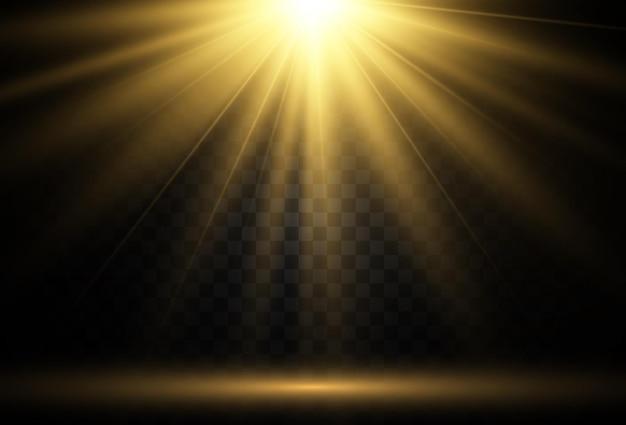Светящийся свет Premium векторы