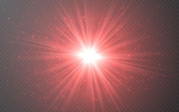 Эффект светящихся огней абстрактные блики световых лучей.