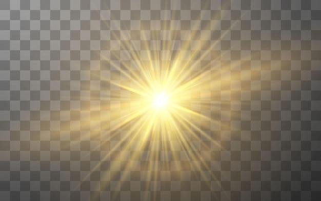 빛나는 조명 효과. 추상 플레어 광선.