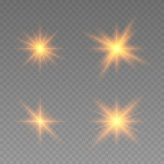 Glowing lights effect. star burst with sparkles.  abstract special effect element design. shine ray with lightning, sparkling round