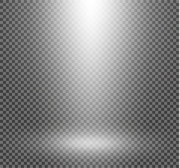 分離された光るライト効果。スポットライト。