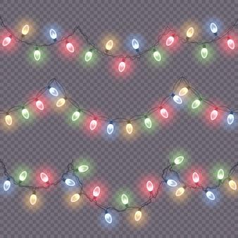 Светящиеся огни для новогоднего украшения
