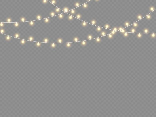 Светящиеся огни для рождественских праздников