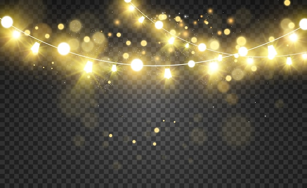 輝く光の花輪