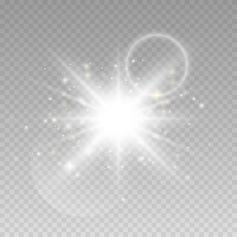 Светящиеся огни на прозрачном фоне.