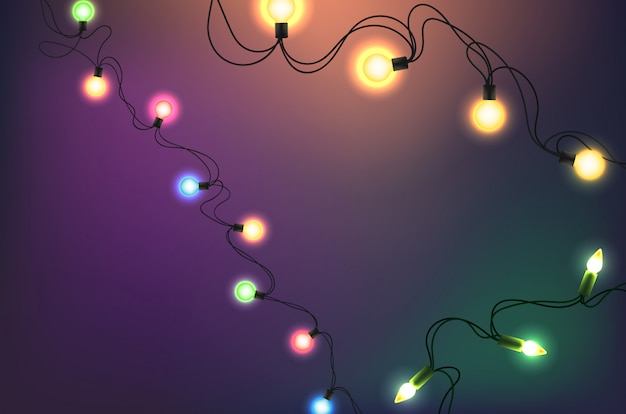 Glowing lights vector clipart