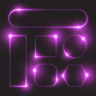 Glowing line banner design