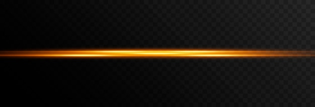 Glowing line of light magic glow neon glowing line png vector image