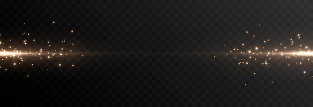 光の輝く線光の魔法の輝きの粒子火花光る線pngベクトル画像