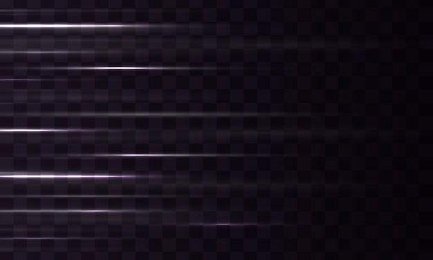 輝く魔法の光の効果と長いトレイルの火の動き
