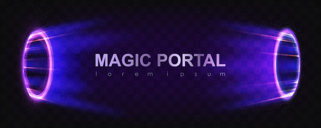 Glowing magic portals