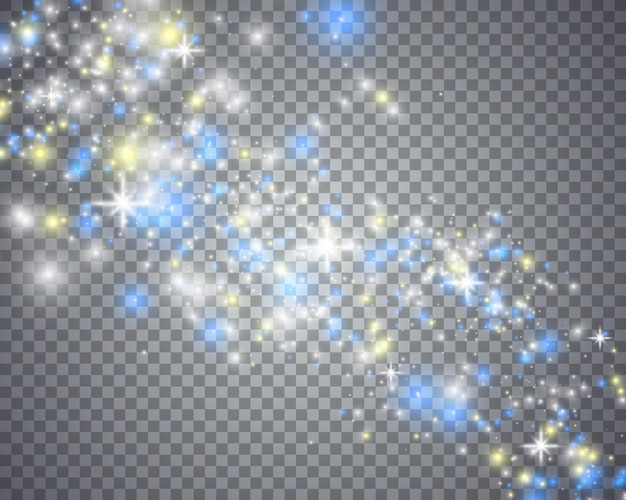 Glowing magical wave of glitter star.