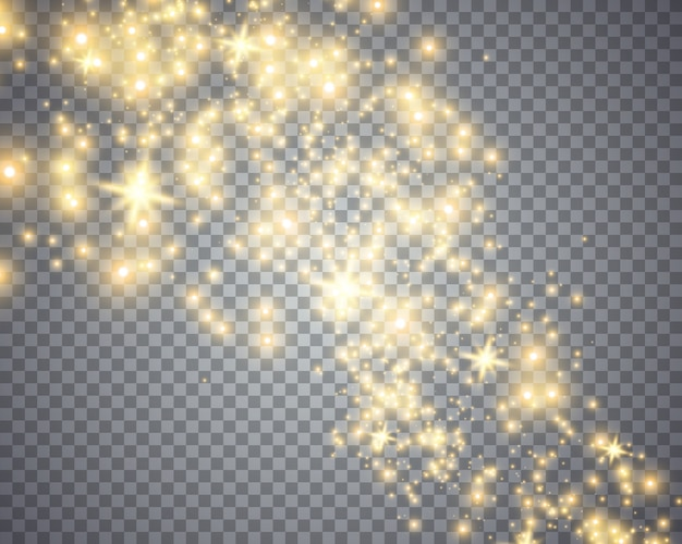 Glowing magical wave of glitter star