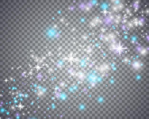 キラキラ星の輝く魔法の波。あなたのデザインのグラフィックコンセプト