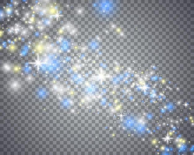 반짝이는 별의 빛나는 마법의 물결.