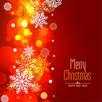 Glowing merry christmas snowflakes holiday background