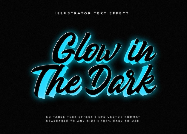Glowing motivational text style font effect