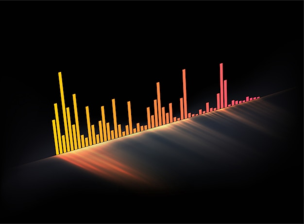 Glowing music track sound wave. modern styled musical.