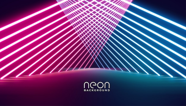Glowing nelights stage pathway background