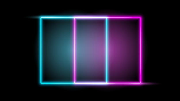 Glowing neon frame. design element