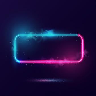 Светящаяся рамка неонового освещения