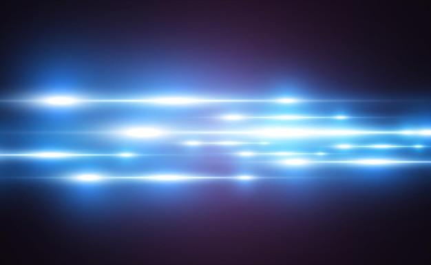 Светящиеся неоновые линии на прозрачном фоне абстрактный цифровой дизайн