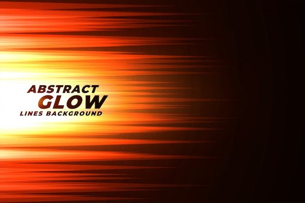 Glowing orange abstract lines background