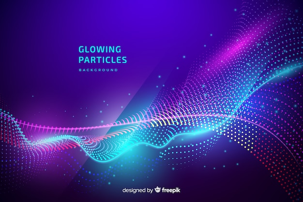 Glowing particles background
