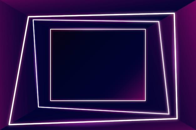 Светящаяся розовая неоновая рамка