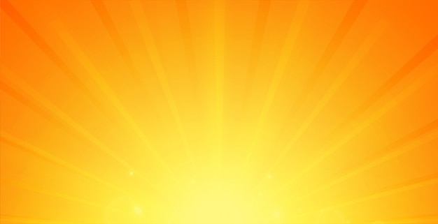 Glowing rays background in orange color