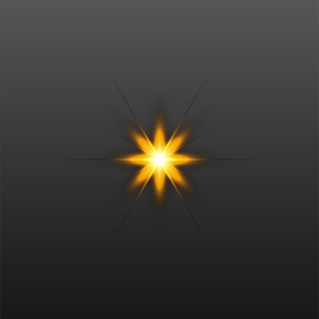 Glowing rays effects