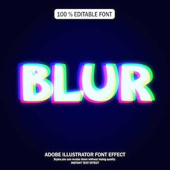 Glowing red green blue text effect