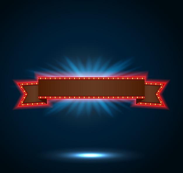 Светящаяся ретро-баннерная баннерная лента