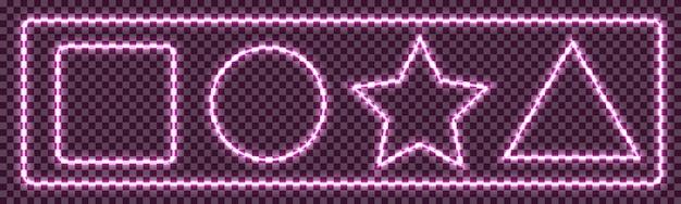 輝くセイバーネオンフレーム図形バナー