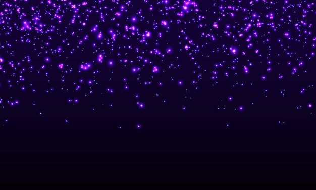 Glowing sparkles. falling abstract particles.