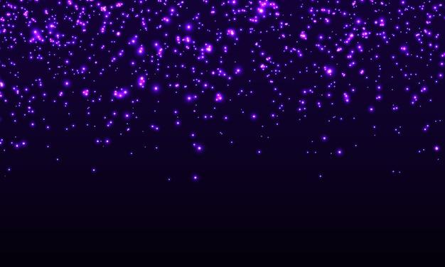 輝く。落下する抽象的な粒子。