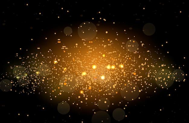 輝くキラキラとまぶしい光の効果。点滅するライトをスパークします。図